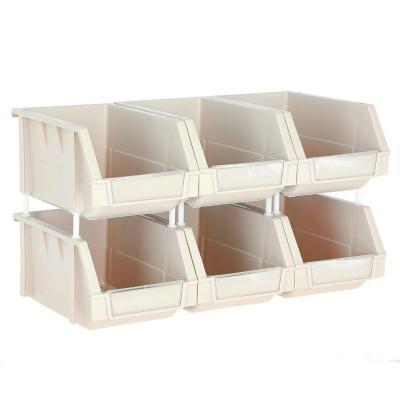 Set de 6 cajas organizadoras 4.5 lts 15x24x12.4 cm