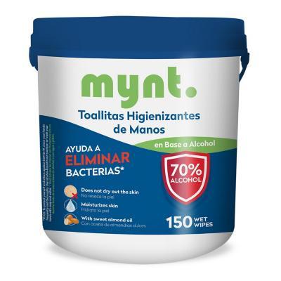 Toallas higienizantes 70% Alcohol 150 unidades