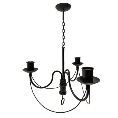 Lámpara colgante Venecia 3 luces negro matte