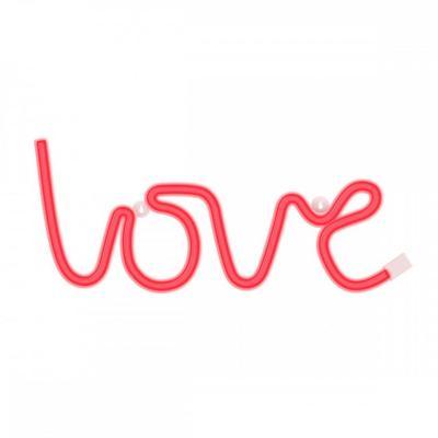 Luz decorativa Love neón 35x13x2,2 cm rojo
