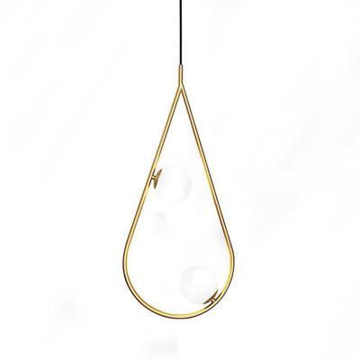 Lámpara colgante 5 W aluminio y vidrio G9 dorado
