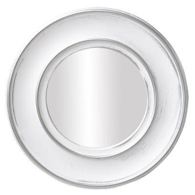 Espejo redondo blanco viejo 25 cm
