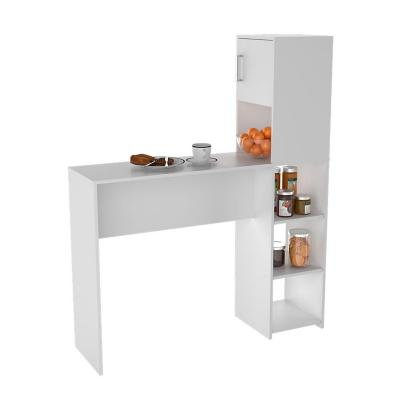 Mesa Organizador Cocina Blanco 152x125x36 cm