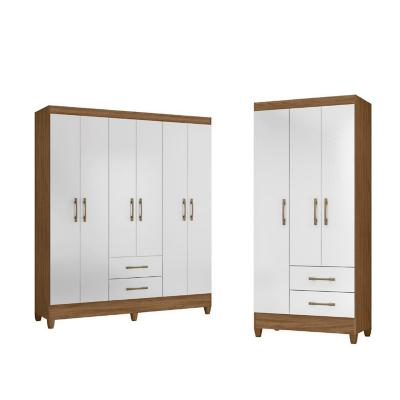 Combo 2 Closet Blanco/ Natural