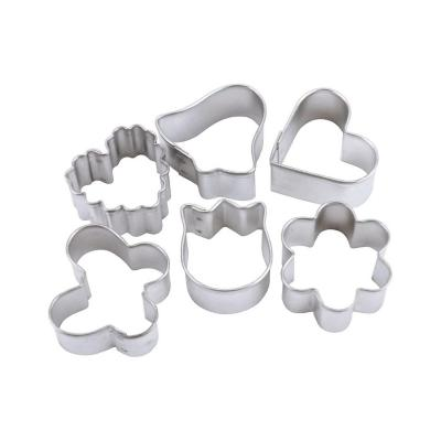 Set de 6 cortadores galleta de metal