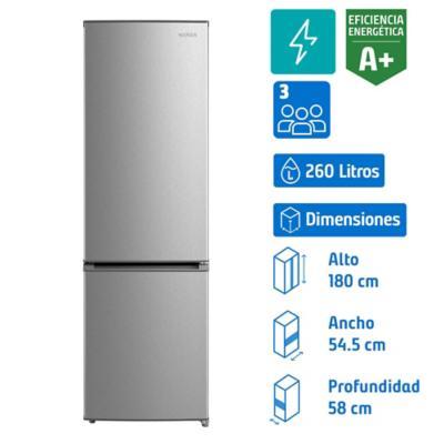 Refrigerador frio directo bottom 260 litrossilver