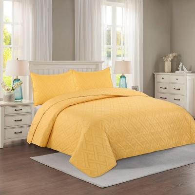 Quilt hotpress liso amarillo king