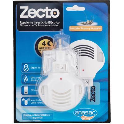 Insecticida eléctrico para zancudos difusor + tableta insecticida 4 un