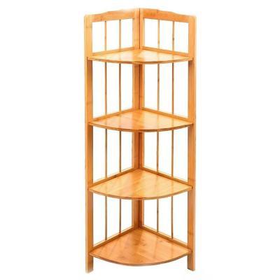 Estante esquinero madera repisa de 4 niveles