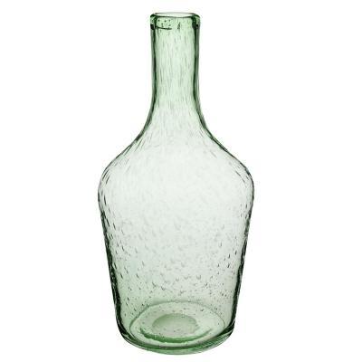 Botella vidrio 32x16 cm verde