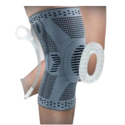 Rodillera gel alto rendimiento nylon talla L gris