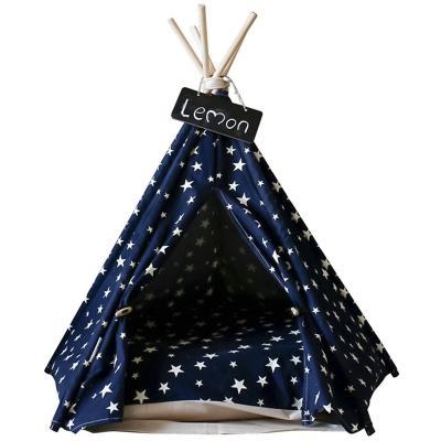 Casa para Mascota Carpa Tipi 80x5x50 cm Night Star