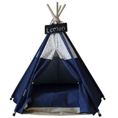 Casa para Mascota Carpa Tipi 80x5x50 cm azul