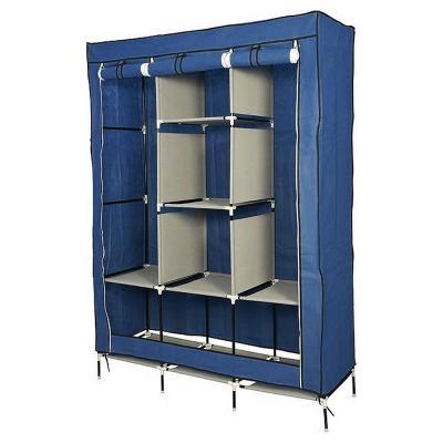 Closet de Tela transportable 105x45x175 cm café