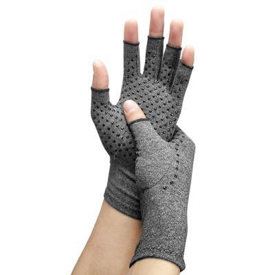 Guantes artritis compresión algodón talla L gris