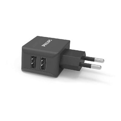 Cargador USB Doble Ultra Rápido 3.1A/Negro