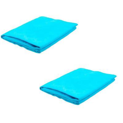 Pack 2 toallas para mascotas algodón azul