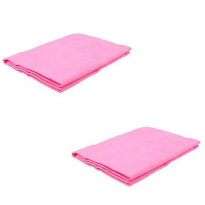 Pack 2 toallas para mascotas algodón rosado