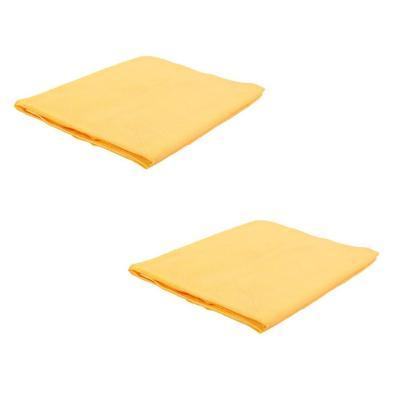Pack 2 toallas para mascotas algodón amarillo