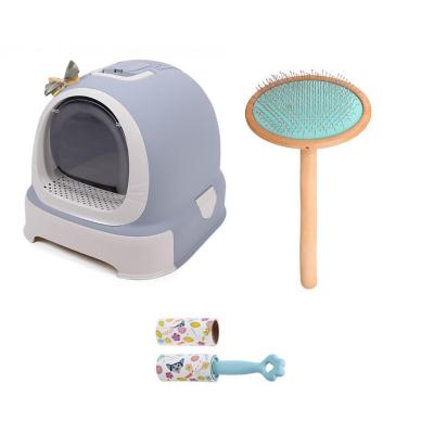 Set higiene gatos baño+cepillo+removedor de pelos