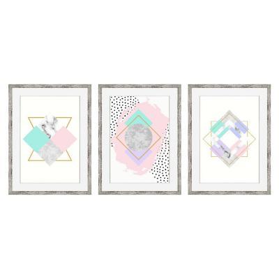 Set 3 cuadros geométricos 45x60 cm