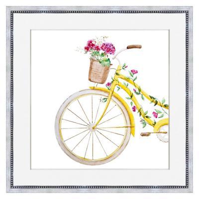 Cuadro bicicleta flores 50x50 cm