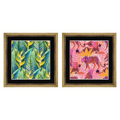 Set 2 cuadros Abstractos 30x30 cm