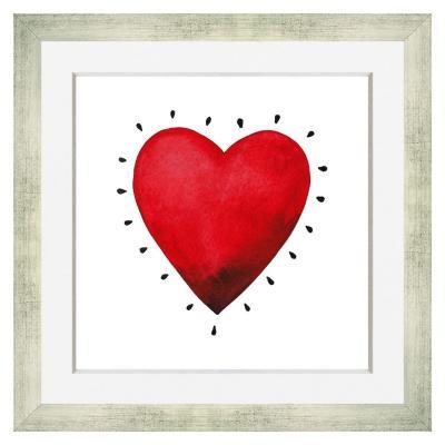 Cuadro corazón champange 30x30 cm