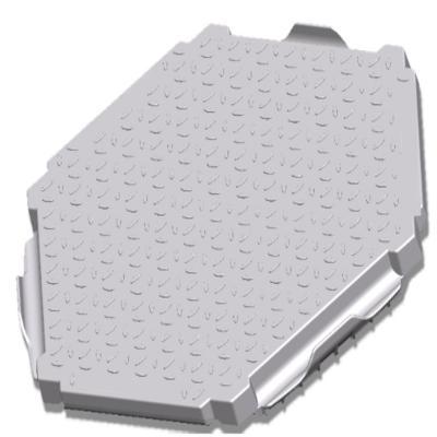 Piso modular industrial pro track 125 ton/ 2,2 m2
