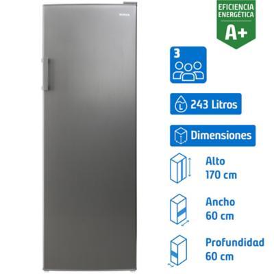 Freezer vertical 243 litros silver