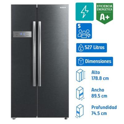 Refrigerador side by side 527 litros inox