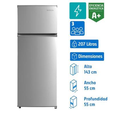 Refrigerador top mount frio directo 207 litros