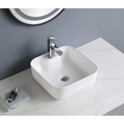 Lavamanos sobreponer blanco 15x40x40 cm