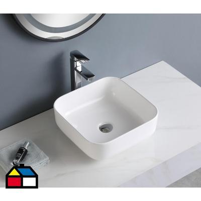 Lavamanos sobreponer blanco 14x39x39 cm
