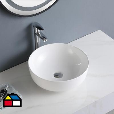 Lavamanos sobreponer blanco 13x41x41 cm