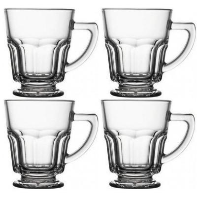 Set 4 tazas mug vidrio templado casablanca 270cc