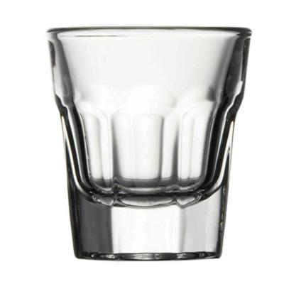 Set 24 vasos shot vidrio templado casablanca 36cc