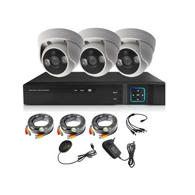 Kit 3 cámaras seguridad + Xvr 4Ch HD interior 1MP