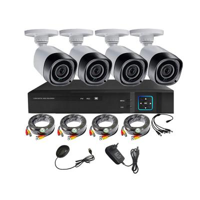 KIT camaras de seguridad +Xvr 4Ch HD exterior 1mp