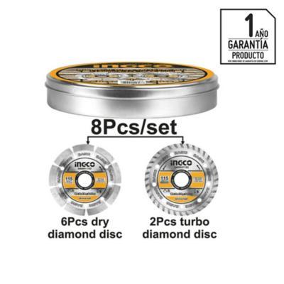 Set de discos diamantados 8 piezas