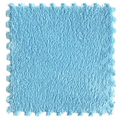 Set 9 goma eva felpa azul