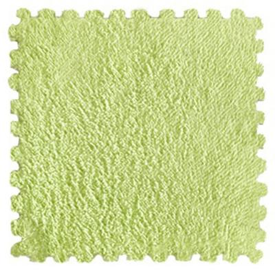 Set 9 goma eva felpa verde