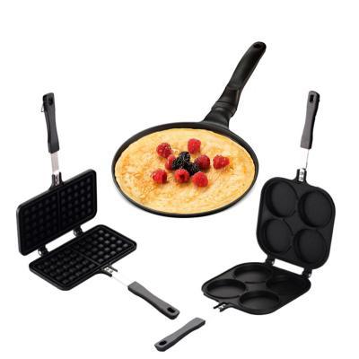 Sartén panqueques+ Sartén Waffles +Sartén Pancakes