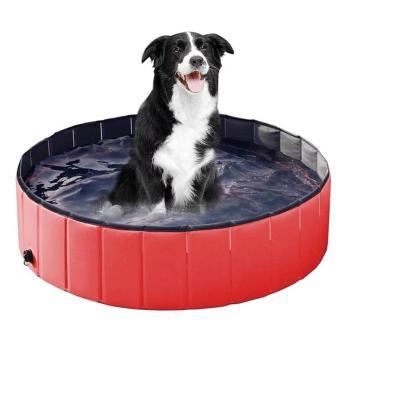 Piscina grande para mascotas 100x30 cm roja