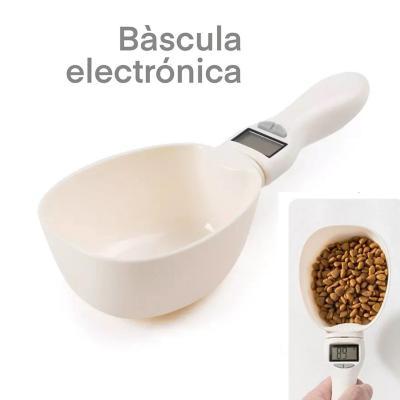 Báscula digital electrónica para comida de mascota