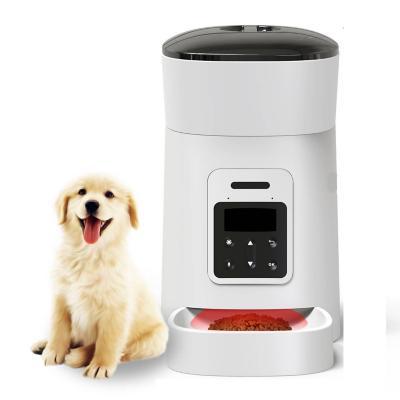 Alimentador automático mascotas 4,3 L blanco