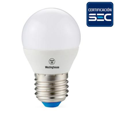 Ampolleta Led Mini Bola E27 4W Luz Cálida