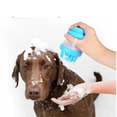 Cepillo multifuncional limpieza de mascota celeste