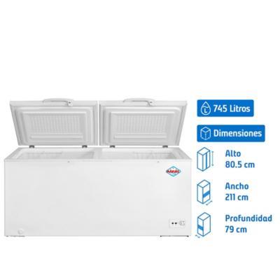 Congelador horizontal 745 litros dual
