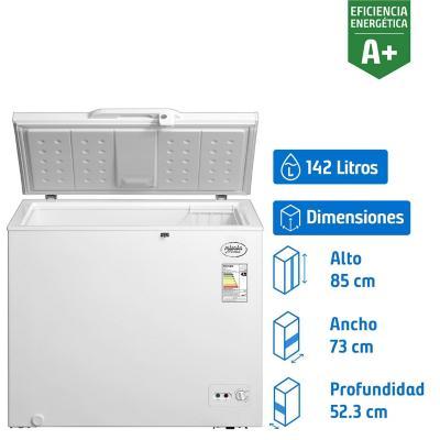 Congelador horizontal 142 litros dual